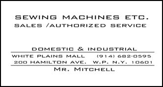 Sewing Machines Etc