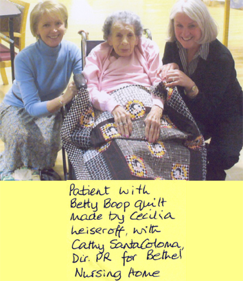 Recipient of Friendship Quilts At Bethel Nursing Home